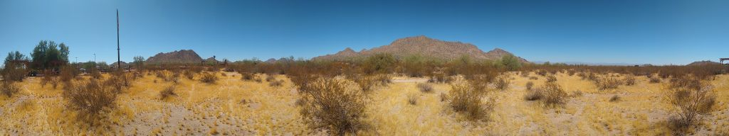 Panoramic landscape photo of San Tan Mountain Regional Park